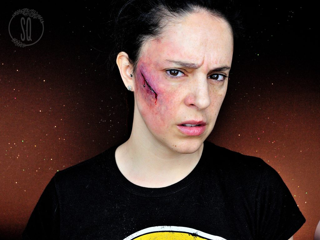 Cut with bruise makeup tutorial effect