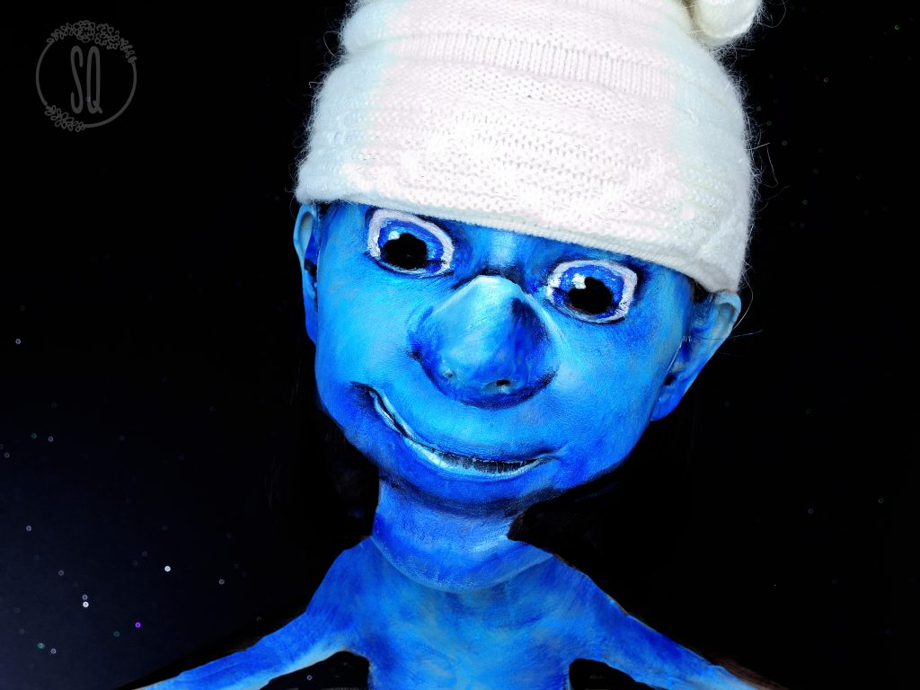Clumsy Smurf from The Smurfs movie makeup tutorial