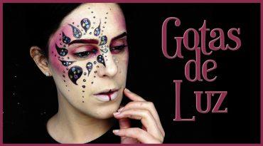 Tutorial maquillaje de carnaval Gotas de luz