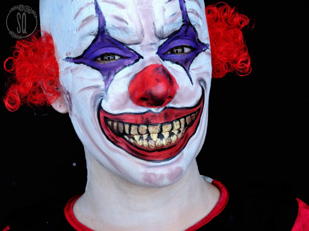Evil clown makeup tutorial