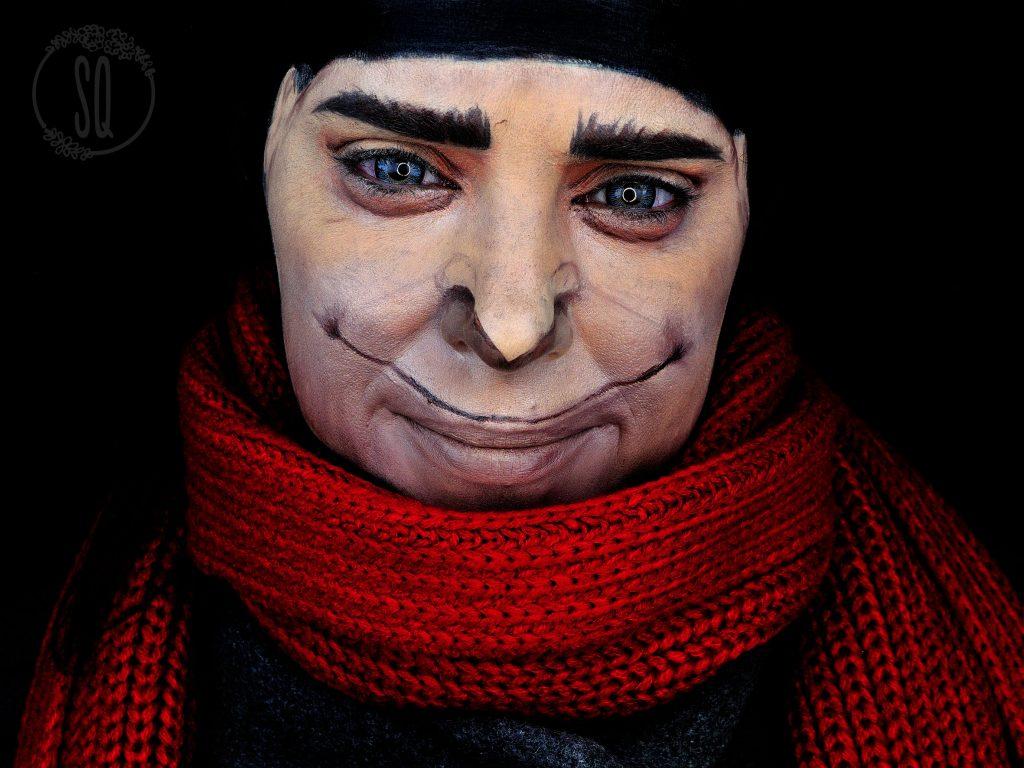 Maquillaje transformación en Gru