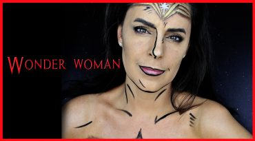 Facepaint tutorial of Wonder Woman