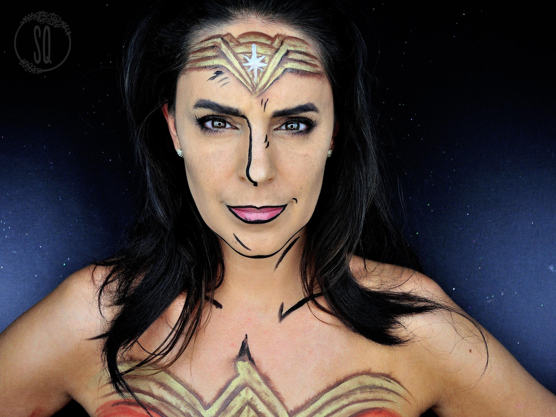 Facepaint Tutorial Of Wonder Woman Silvia Quir 243 S