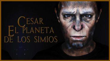 Maquillaje transformación en Cesar de El planeta de los simios
