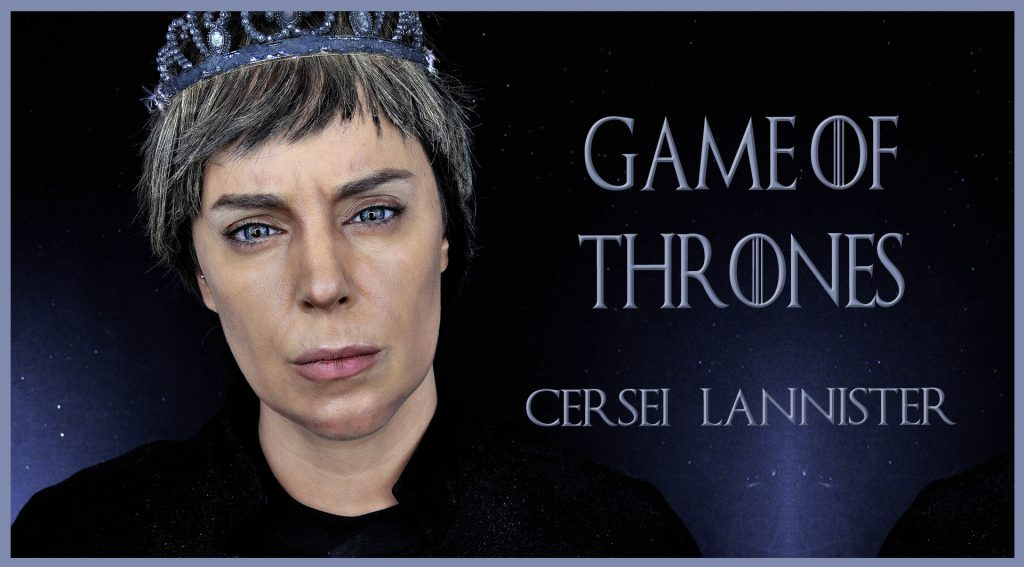 Makeup transformation into Cersei, serie Game of Thrones