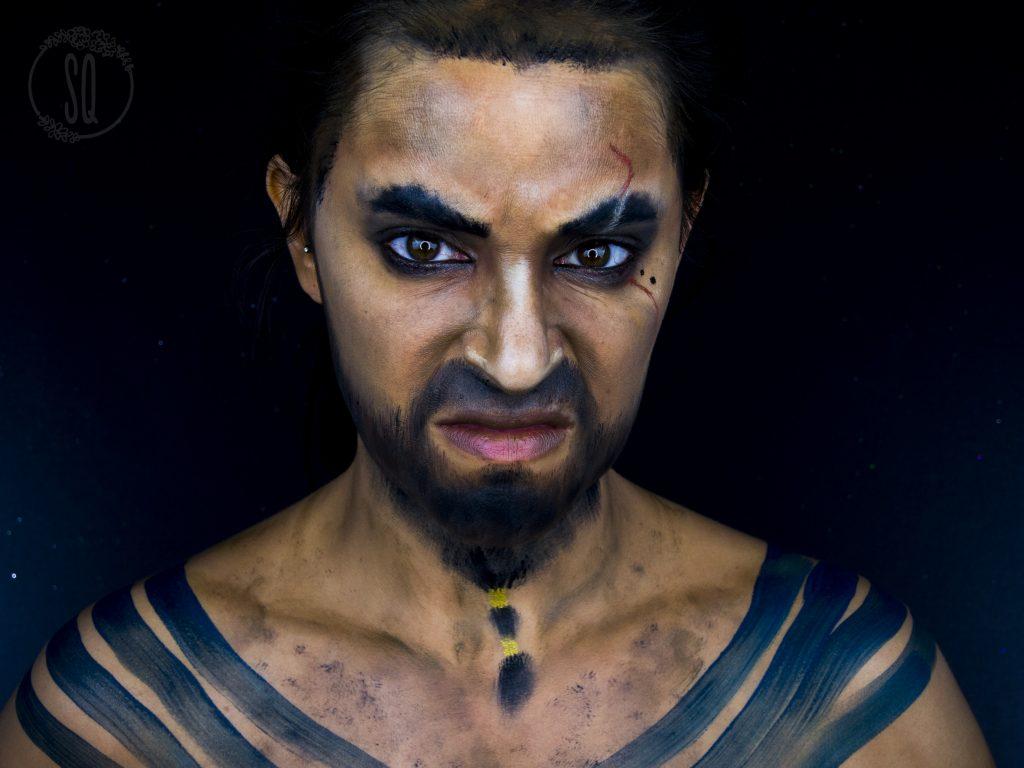Maquillaje transformación en Khal Drogo, serie Juego de Tronos