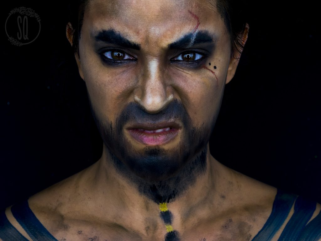 Makeup transformation into Khal Drogo, serie from Game of Thrones