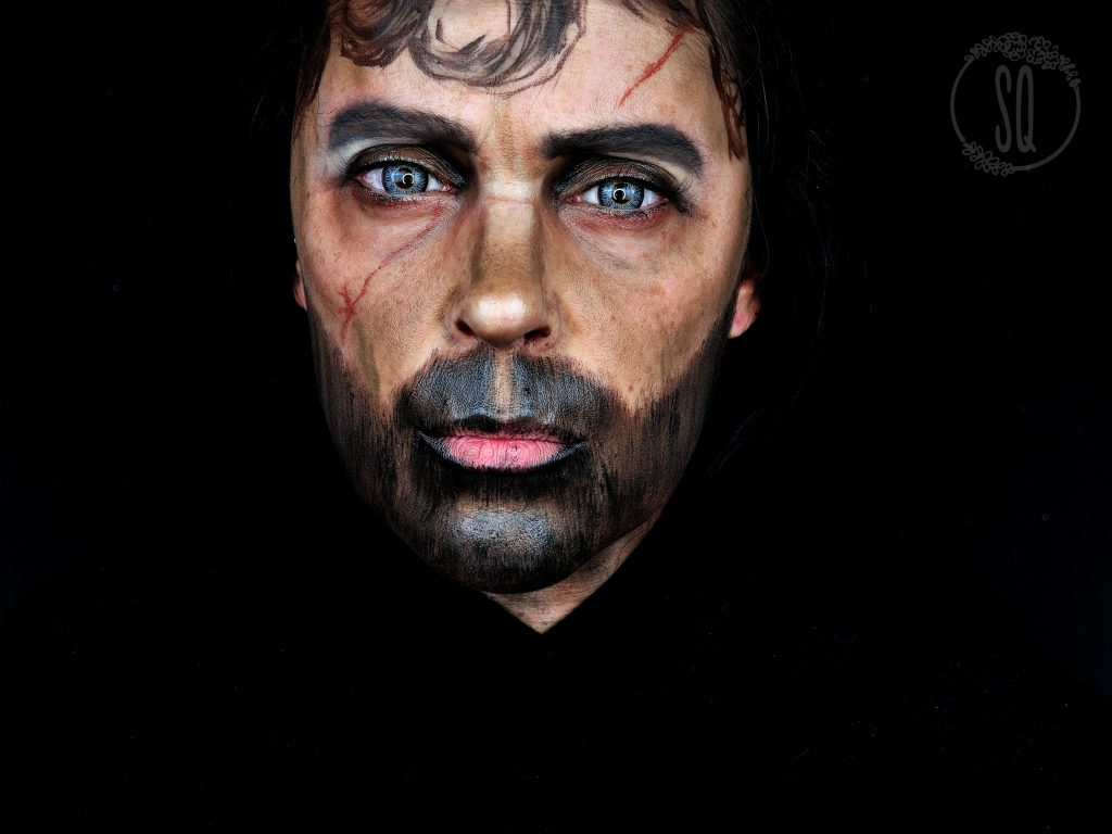 Makeup transformation into Tyrion Lannister, serie Game of Thrones