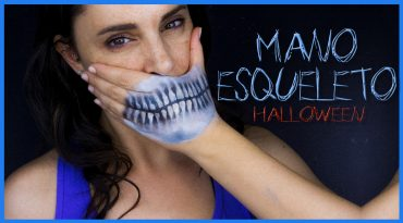 Efecto mano esqueleto, maquillaje de Halloween