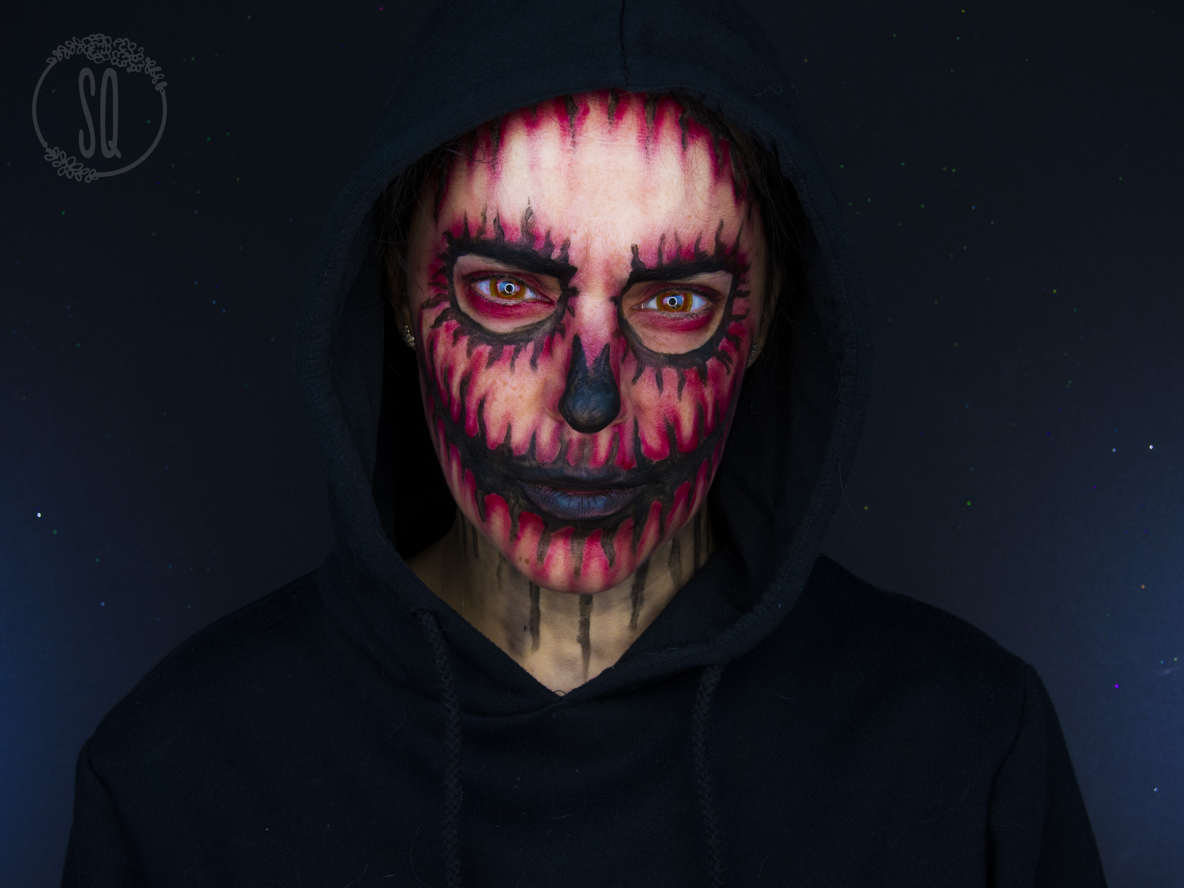 maquillaje calavera demonio para halloween - Maquillaje Demonio