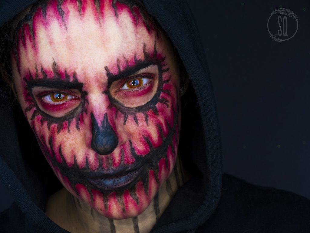 Maquillaje calavera demonio para Halloween