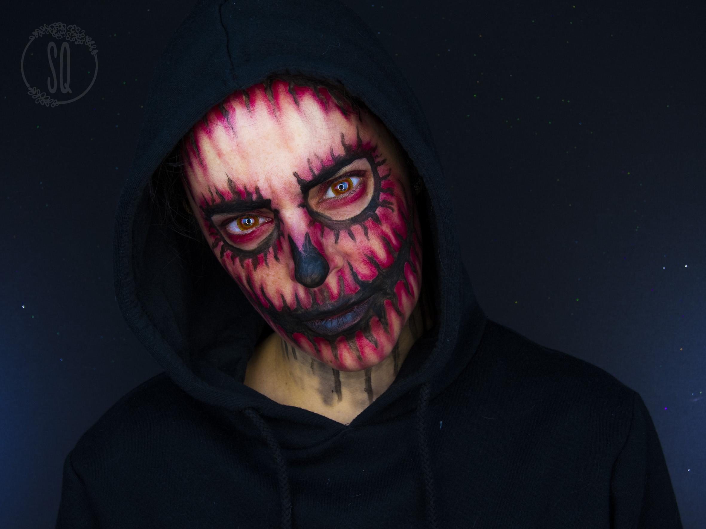 maquillaje calavera demonio para halloween maquillaje calavera demonio para halloween - Maquillaje Demonio