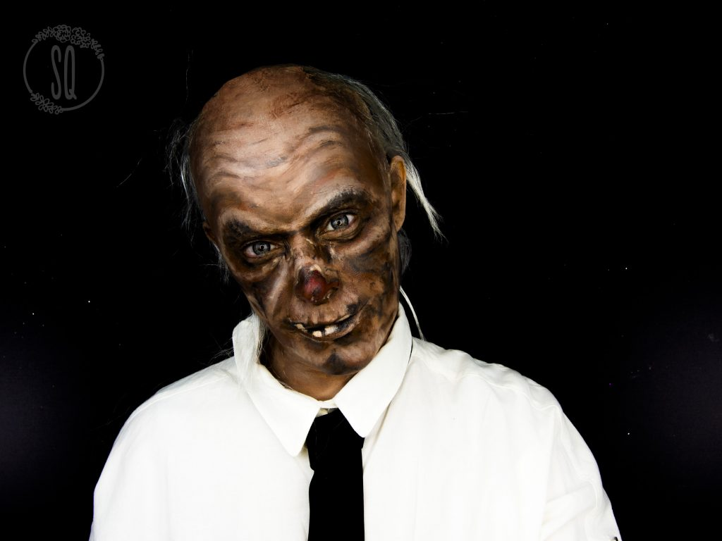 Crypt Keeper makeup tutorial for Halloween