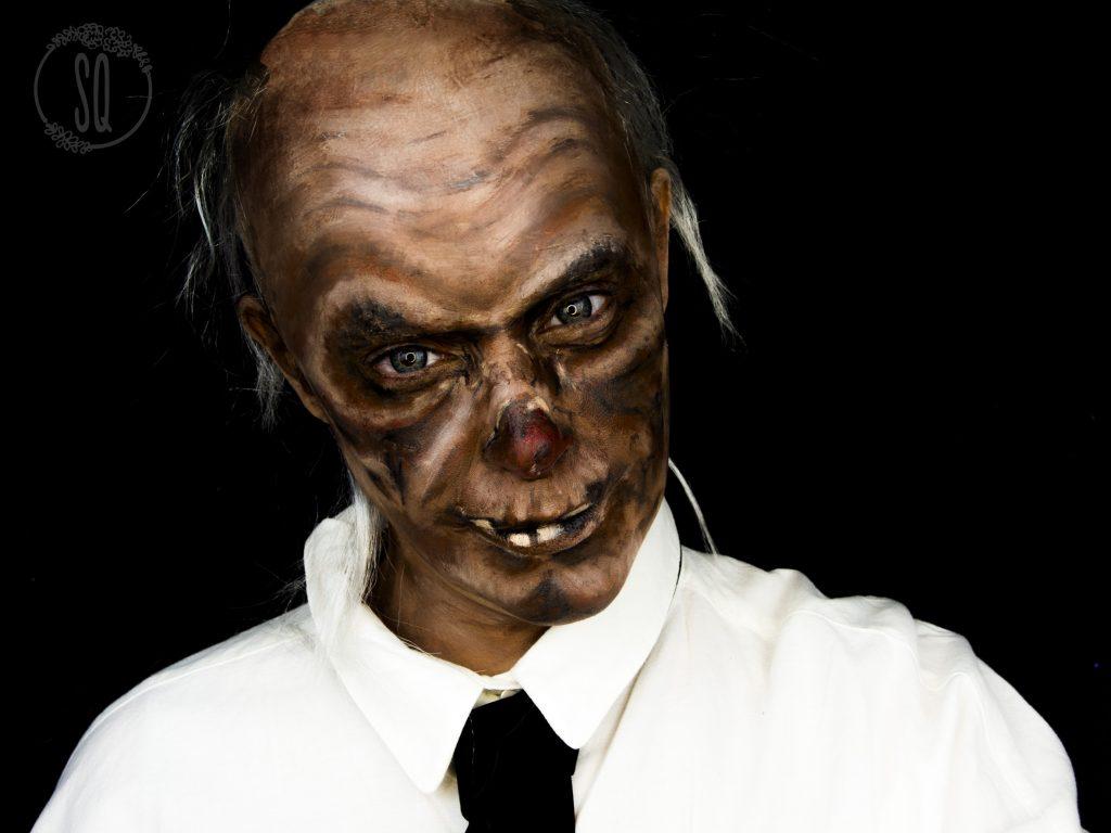 Maquillaje Guardian de la cripta para Halloween