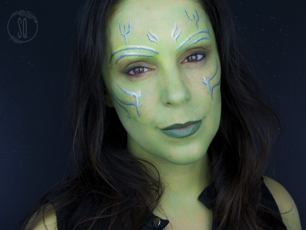 Gamora transformation makeup tutorial