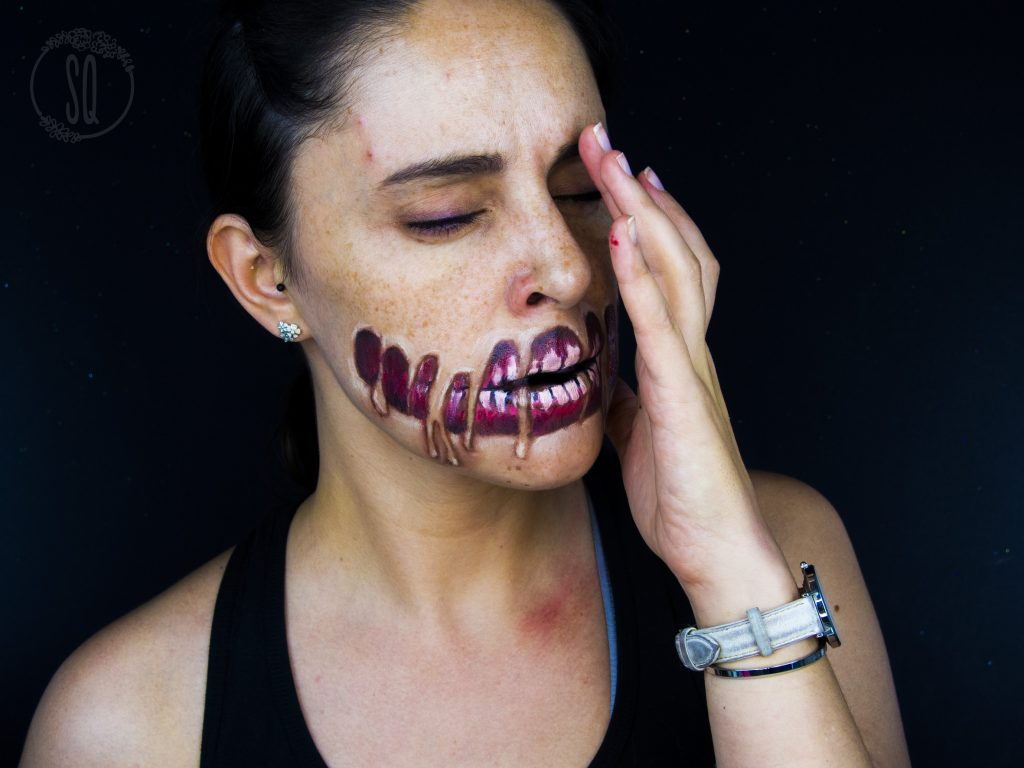 Melted skin effect, Halloween Makeup