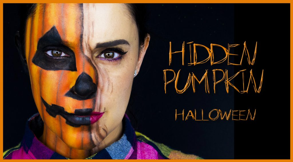 Hidden pumpkin makeup effect