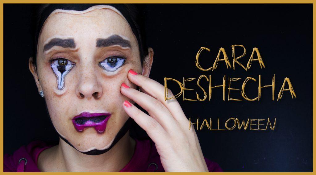 Maquillaje efecto cara deshaciéndose