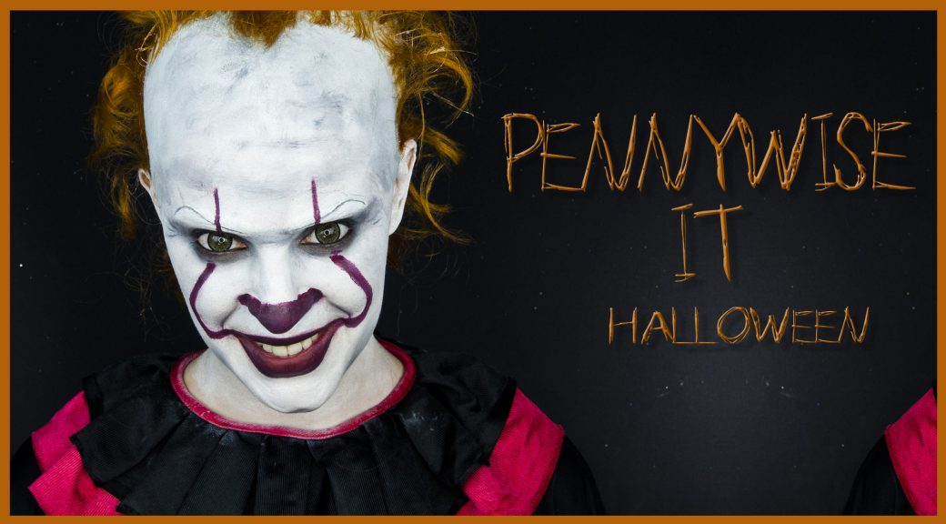 Pennywise clown makeup from IT