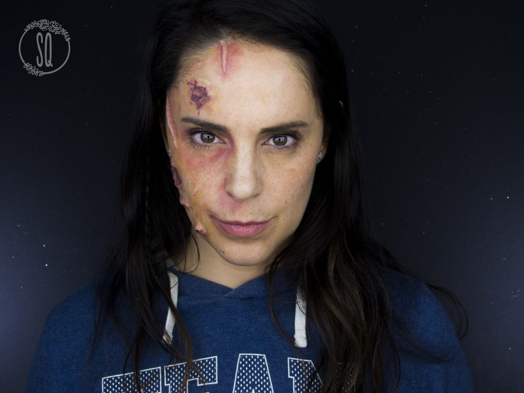 Maquillaje efecto cara infectada