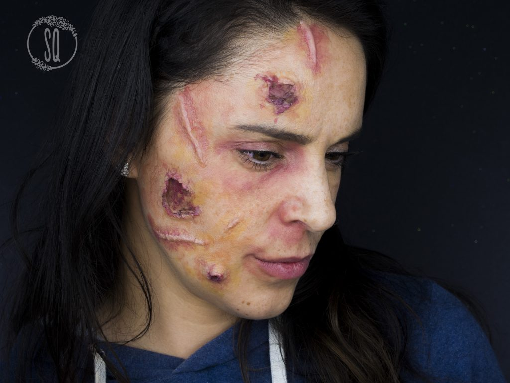 Infected face effect makeup