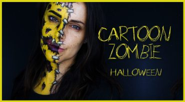 Cartoon zombie makeup look