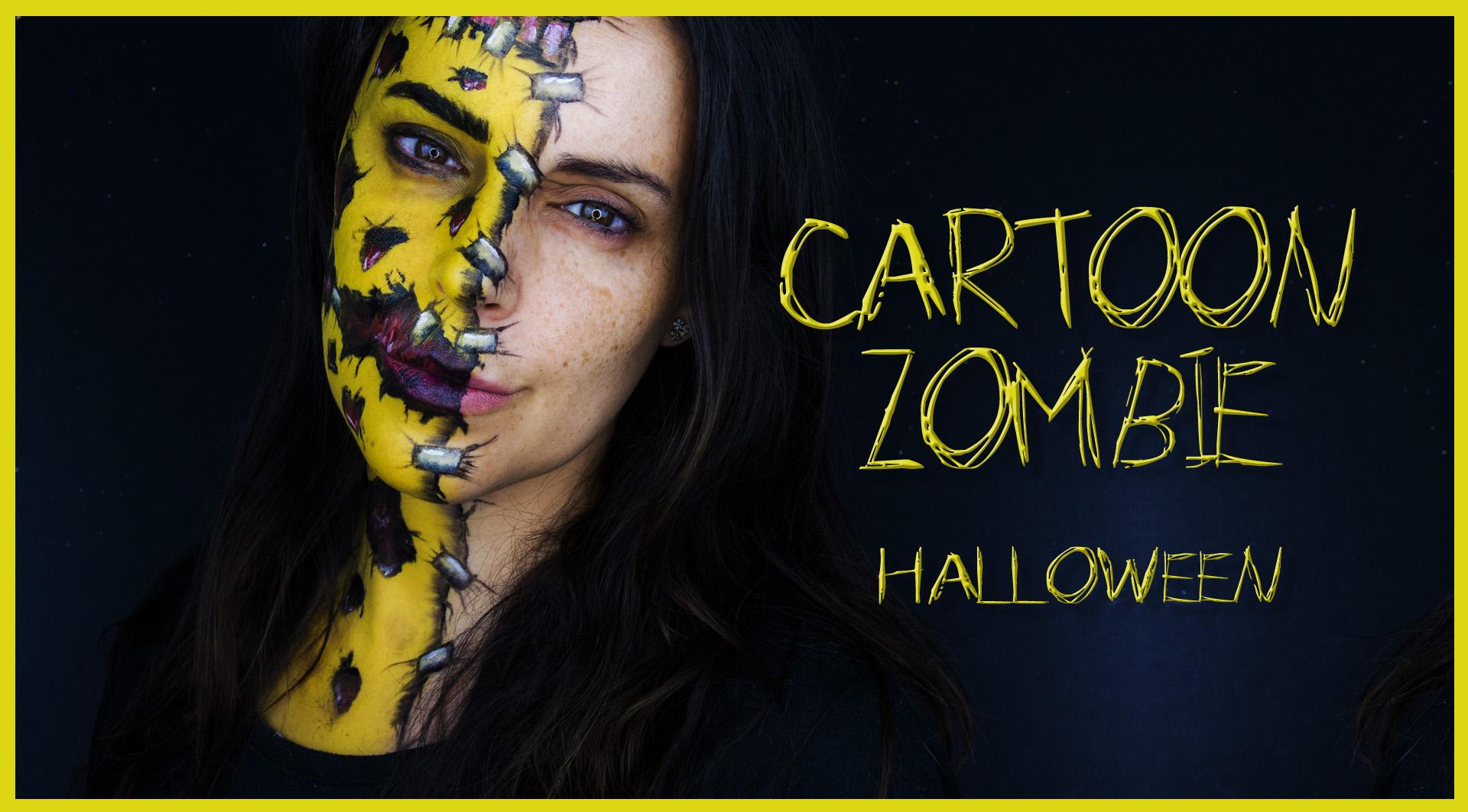 Maquillaje cartoon zombie