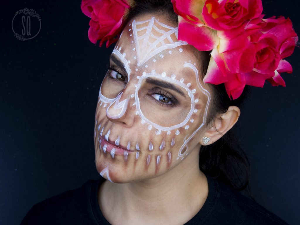 Sugar skull makeup look