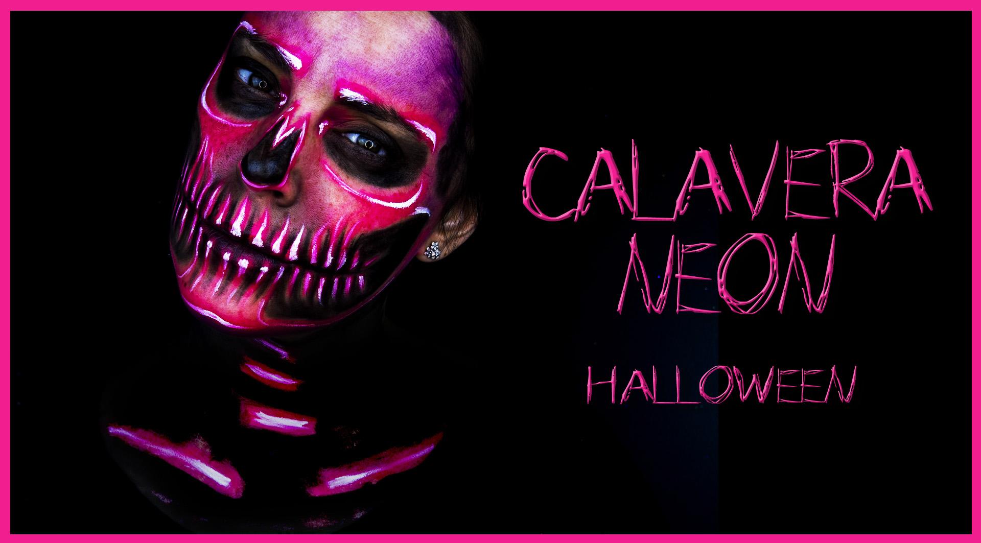 Maquillaje esqueleto neon