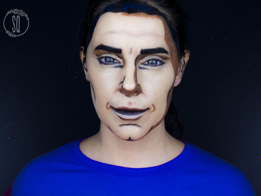 Maquillaje fantasía cartoon man