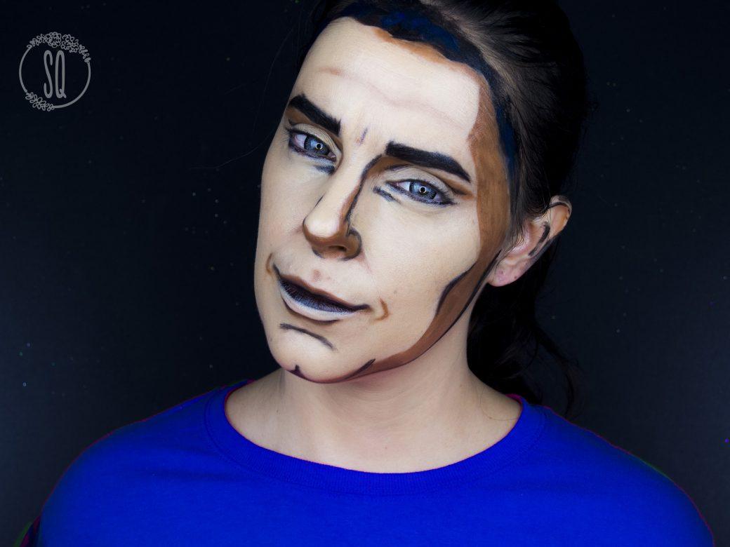 Cartoon makeup tutorial