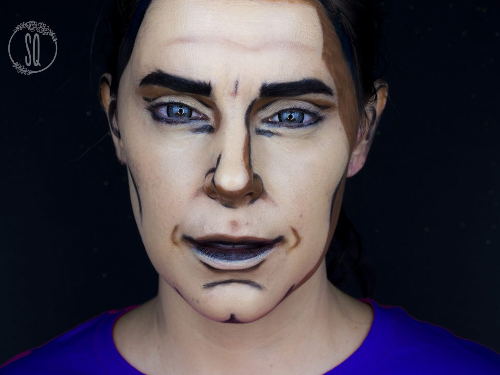 Cartoon man makeup tutorial