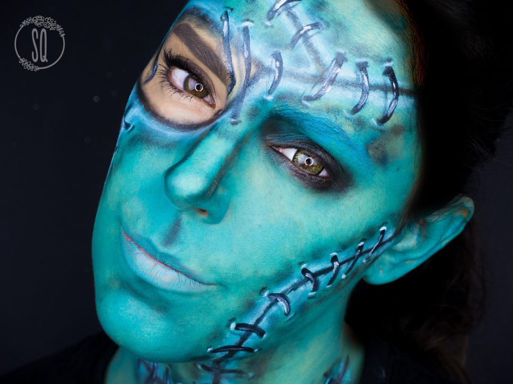 Maquillaje Frankenstein bella, face paint