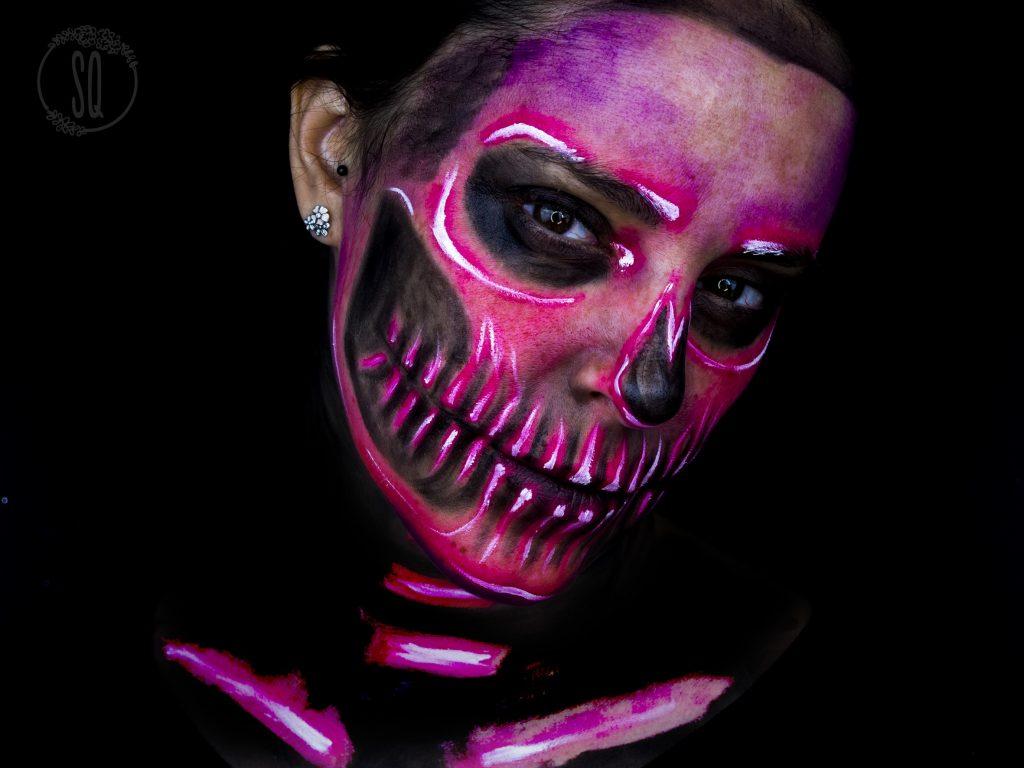 Neon Skull Makeup Look Silvia Quir 243 S