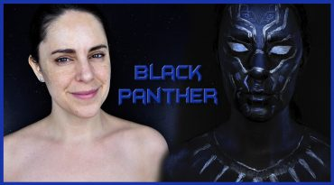 Makeup transformation into Black Panther