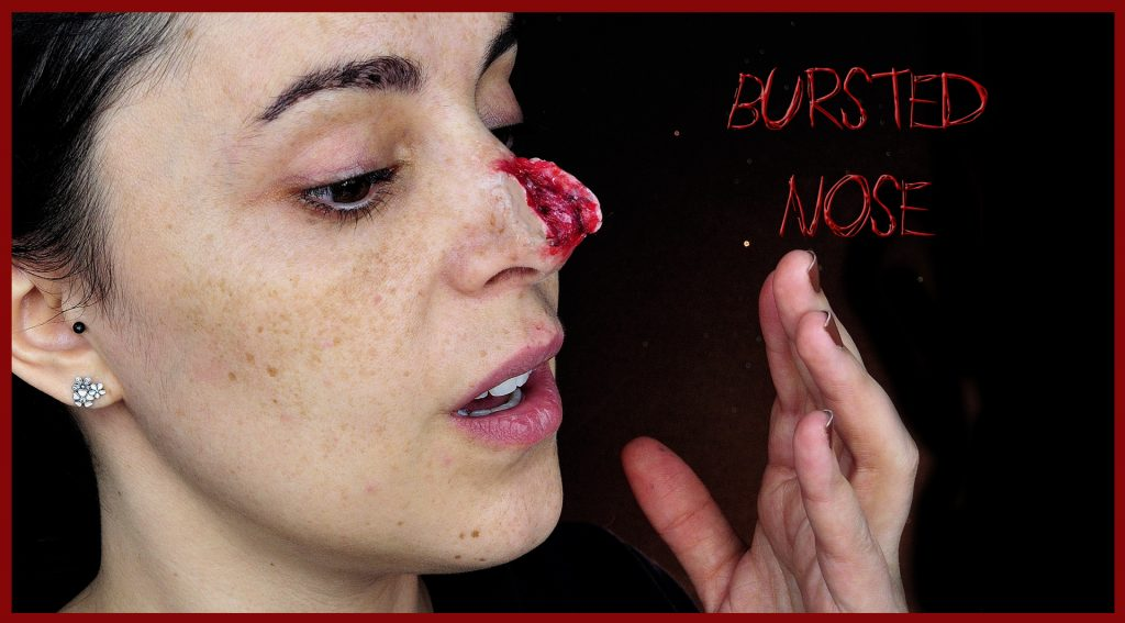 Bursted nose makeup tutorial FX