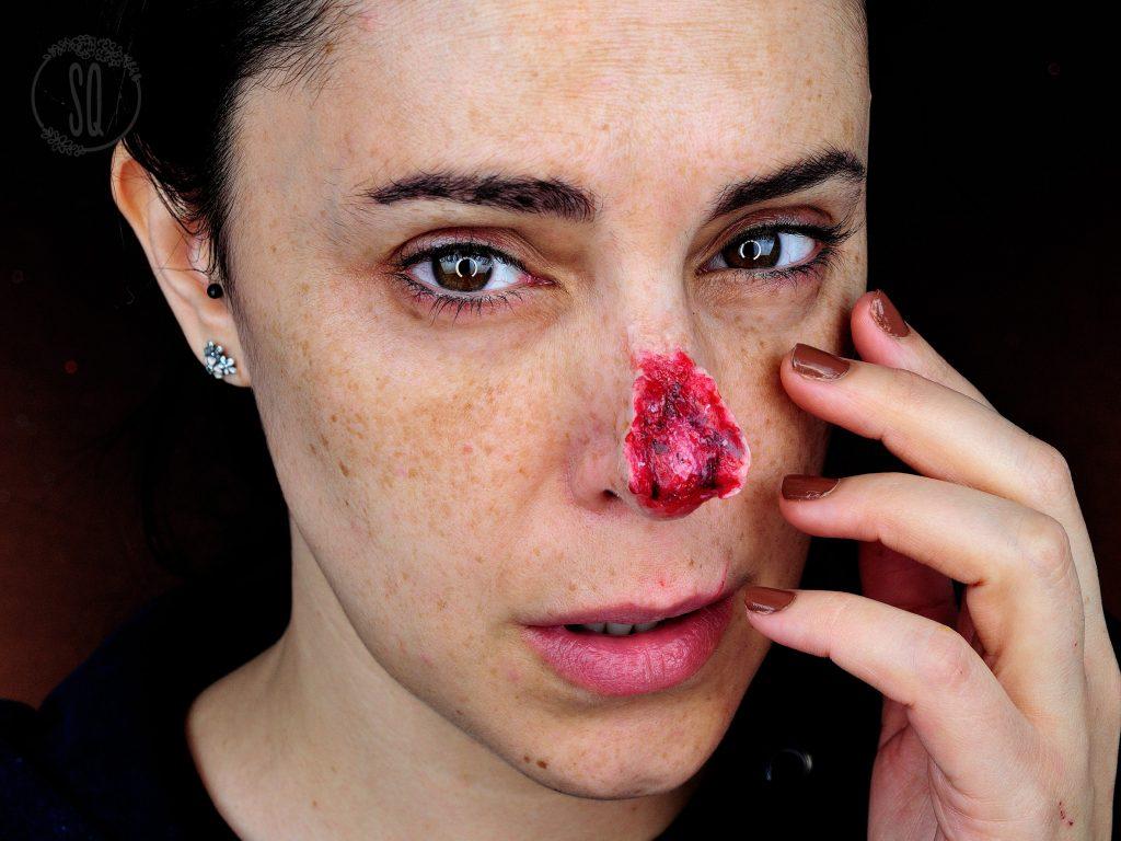 Tutorial nariz reventada efectos especiales