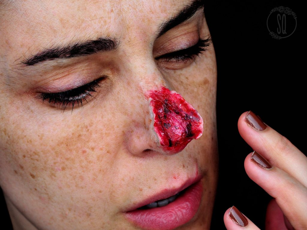 Bursted nose makeup tutorial FX