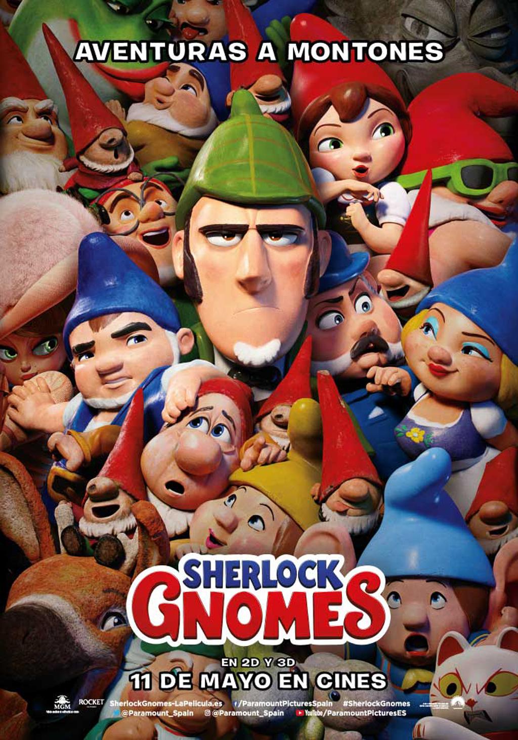 Sherlock Gnomes, película entretenida para todos los públicos