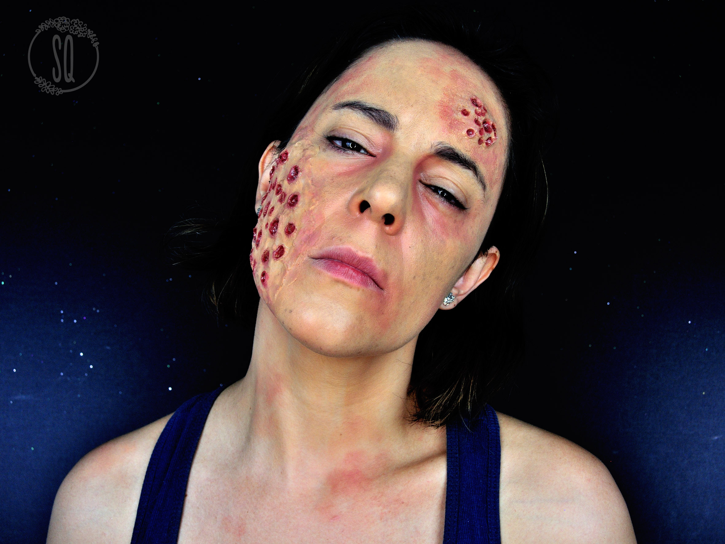 halloween makeup tutorial, trypophobia effects - silvia quirós