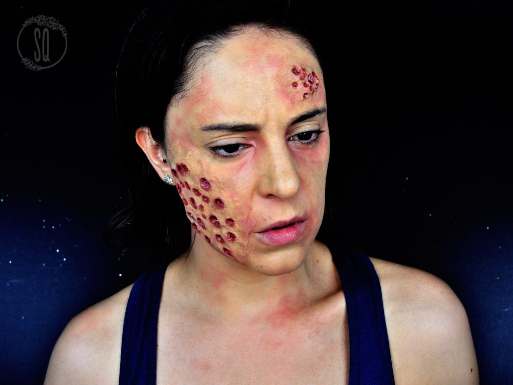 Halloween Makeup tutorial, Trypophobia effects