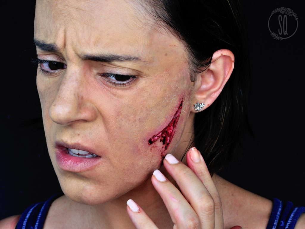 FX makeup cut in the face